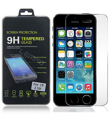 Premium Real Tempered Glass Screen Protector Film Guard for Apple iPhone 5/5S/SE