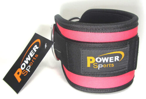 FUCHSIAPink Power Sports Ankle Strap Cable Machine Ext NylonNeoprene SINGLE
