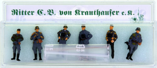 H0 6 Figuren Zubehör Ritter von Krauthauser 87116 – Wehrmachtssoldaten