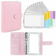 A6 Budget Binder With Zipper Envelope Money Organizer For Cash Faux Leather