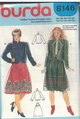 UNCUT Vintage Butterick Sewing Pattern Rimini Misses Jacket Skirt 4444 OOP SEW