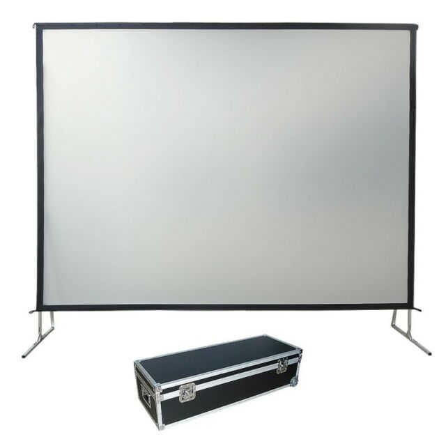 """150"""" 16:9  Fast Fold Projection Screen, Front Screen ONLY USED ITEM PLEASE READ"""