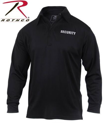 Long Sleeve Polo Security Uniform Shirt Moisture Wicking Fabric Rothco 2716