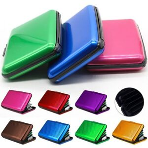 3c4e3aeff48f Details about RFID Scan Protected Aluminium Hard Case Security Wallet Bank  Credit Card Holder