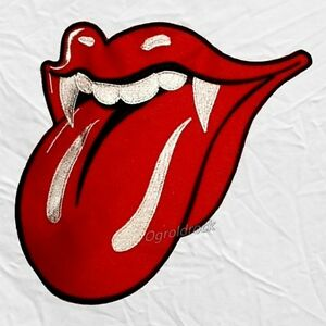 Image Is Loading The Rolling Stones Grrr Tongue Logo Embroidered Big
