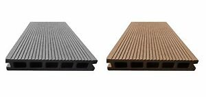 22 m² BPC Komplettset Braun Terrassendielen Bambus Holz Komplettbausatz WPC