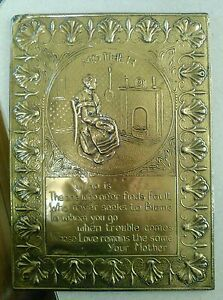 brass elpec made in england mother wall plaque ebay