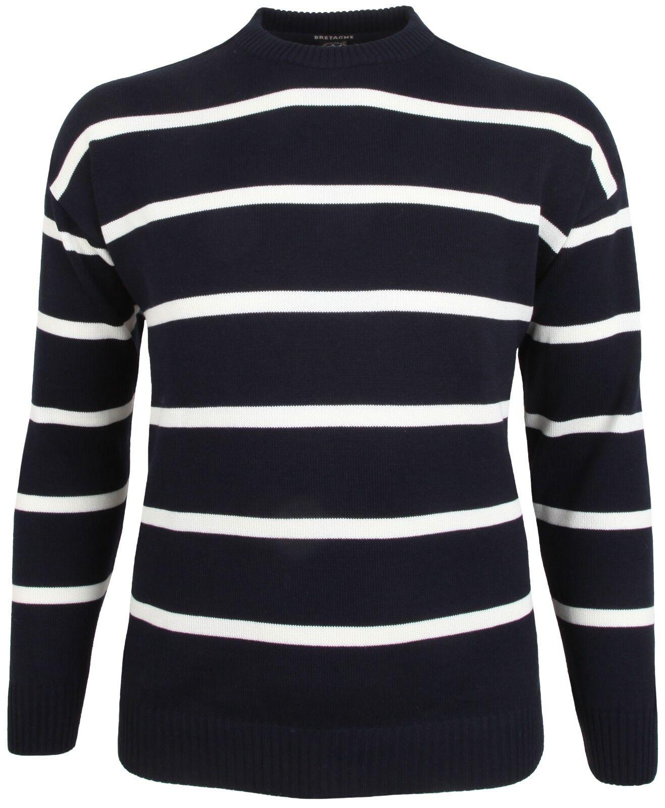 PAUL & SHARK YACHTING Pullover Sweater Rundhals Gr. 4XL BRETAGNE Wolle Wool Blau