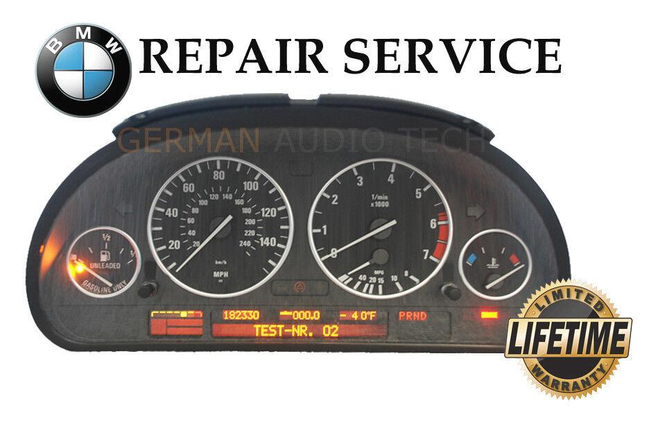 REPAIR SERVICE for BMW INSTRUMENT SDOMETER CLUSTER E38 740 E39 ... on