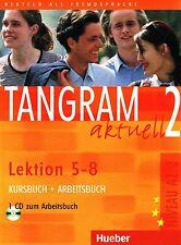 Hueber TANGRAM AKTUELL 2 Kursbuch+Arbeitsbuch Lektion 5-8 + CD Niveau A2/2 @NEW@