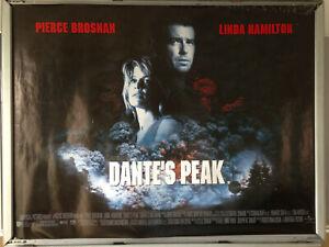 Cinema Poster Dante S Peak 1997 Main Quad Pierce Brosnan Linda Hamilton Ebay
