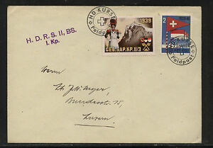 Switzerland 2 soldier stamps on cover MS0531