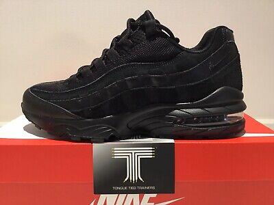 "Nike Air Max 95 (GS) ""Triple Black"" ~ 307565 055 ~ Youth Size UK 5 ~ Euro 38 | eBay"