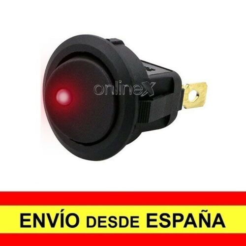 Interruptor Multiusos Luz Roja Vehículo Barco Autocaravana Moto Auto Motor a1579