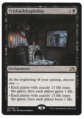 English Shadows Over Innistrad MTG Magic 4x Triskaidekaphobia NM-Mint