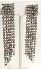 Les Bernard Waterfall Rhinestone Earrings