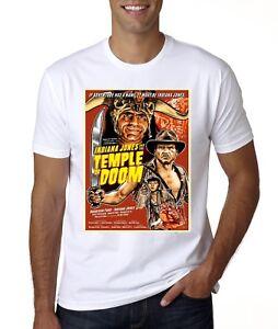 Nouveau-INDIANA-JONES-ET-LE-TEMPLE-MAUDIT-Movie-Poster-T-Shirt