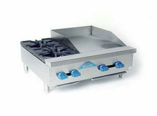 """Comstock Castle FHP30-18 30"""" Counter Top Combo w/ 2 Burners & 18"""" Griddle"""