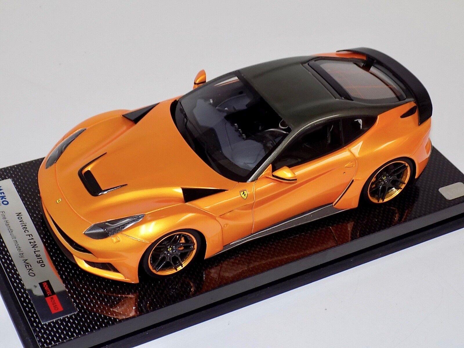 1 18 MEKO Ferrari F12 N-Largo Novitec red Gloss orange Carbon Base BBR or MR