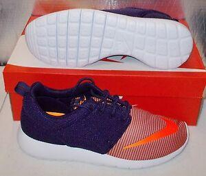 d6cd9b020ac7 NIKE ROSHE ONE FB Womens 7.5 (6Y) Running Purple Bright Citrus ...