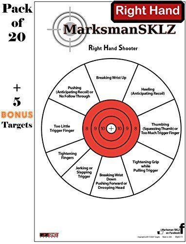 Bonus Targets 11 X 17 High Visibility Handgun Diagnostic Target Pack of 20