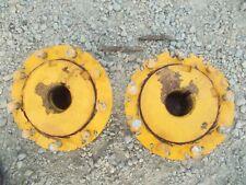 Massey Harris 33 Tractor Mh Axle Hubs Hub Square Bolts 9 Bolt Press Steel Rim