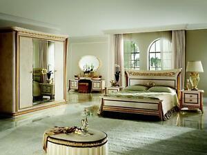 Détails sur Lit Royal Antique Chambre à Coucher Capitonné Baroque Rokoko  Design Meuble