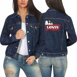 Details zu Levi`s Damen Übergangsjacke Jeans Jacke Jeansjacke Damenjacke 29944 peanuts