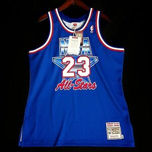 the best attitude 78d8f 7b505 Image is loading 100-Authentic-Michael-Jordan-Mitchell-Ness-1993-NBA-