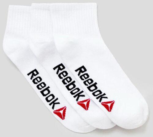 Reebok unisex Essentials Formazione Alla Caviglia Lunghezza Calzini Quarter Confezione da 3 Taglia 6-11