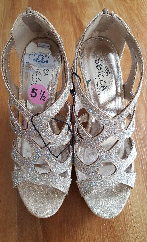 Vestido de Fiesta nuevo Lote de 2 Sandalias para mujer 5 Boda (retoques & Sbicca) Talla 5 mujer y 5.5 737d83
