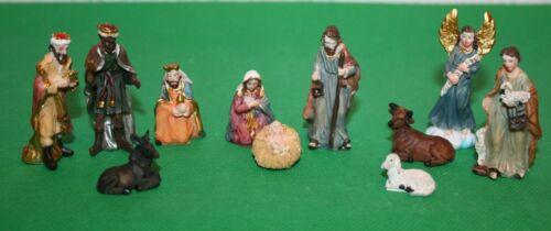Krippenfiguren 11-teilig 1,3 bis 6 cm h /> Krippenzubehör Polyresin Weihnachten