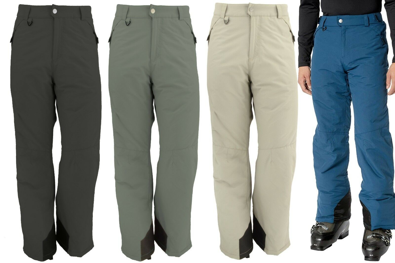 WHITE SIERRA T9705M MEN'S TOBOGGAN  INSULATED SKI SNOWBOARD PANT 30 , 32 , 34  IN  outlet sale