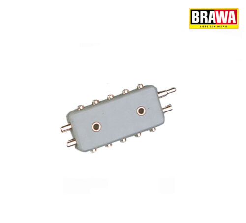 Brawa 2591 Verteilerplatte 2 polig 5-fach Durchmesser 2,5 mm +++ NEU in OVP
