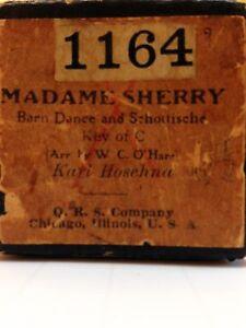 Madame-Sherry-QRS-1164-Barn-Dance-And-Schottische-Kari-Hoschna-Player-Piano-Roll