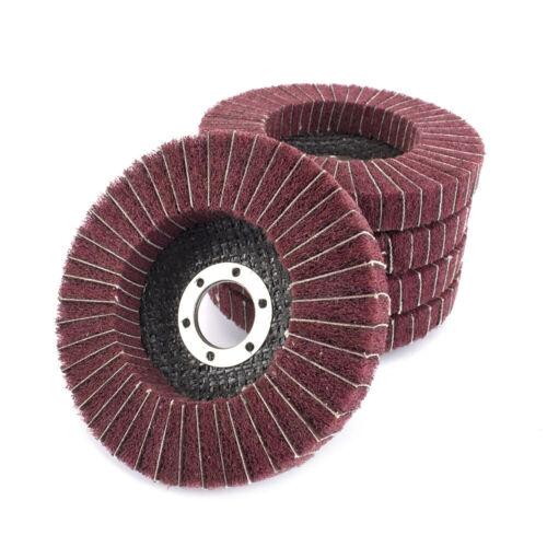 4.5 Inch Nylon Fiber Flap Polishing Wheel Buffing Pad Grinding Disc 1//2//5//10 Pcs
