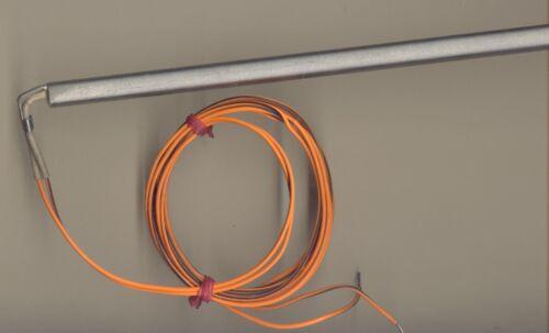 "FAST HEAT Cartridge Heater 1//2/"" Dia X 14.5/"" Long 1100W 115V 60/"" Teflon leads"