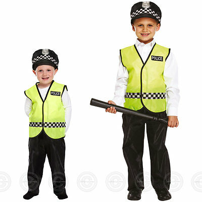 BOYS POLICEMAN FANCY DRESS COSTUME POLICE OFFICER CONSTABLE CHILDS KIDS MAN NEW