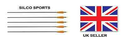 """Silco Carbon Arrows 30"""" 5pk Vivid And Great In Style Black"""