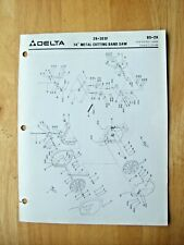 Delta 14 Metal Cutting Band Saw 28 303f Illustrated Parts List Bs 2h