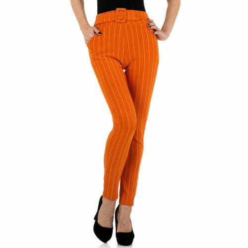 GESTREIFTE CHINO DAMEN HOSE L//XL Orange 3685
