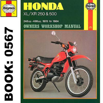 Honda XL250 XL500 XR250 XR500 1978-84 Haynes Workshop Manual