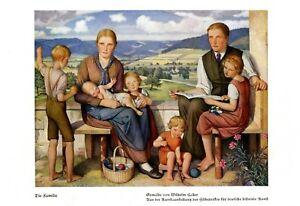Die Familie Kunstdruck 1939 von Wilhelm Haller * & † Freiburg i B. Mutter Kind -