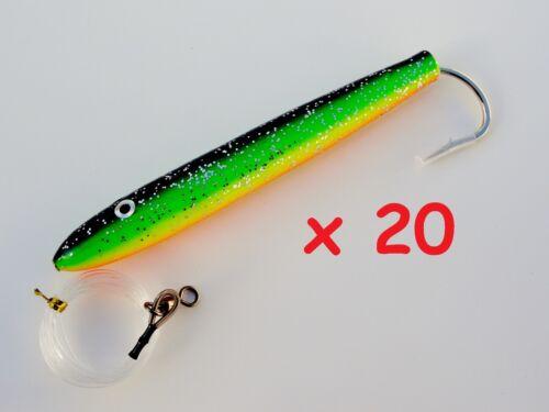 "6/"" Rigged Cedar Plugs Zucchini Tuna Trolling Saltwater Fishing Lures Select qty"