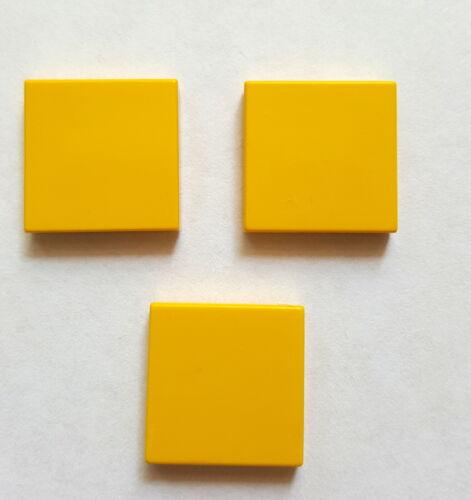 Lego 3068 Kachel Fliese Platte Systemstein 2x2 Glatt 3 Stück Gelb 29A