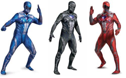 Blue Red Details about  /Saban/'s Power Rangers Adult Men/'s Full Bodysuit Costume Black