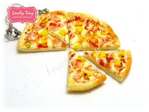 8 pieces Whole Pan Dollhouse miniature Sliced Pizza Hawaiian Pizza,Free ship