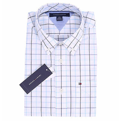 Tommy Hilfiger Men Long Sleeve Classic Fit Button Down Plaid Shirt -$0 Free ship