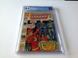 JUSTICE-LEAGUE-OF-AMERICA-89-CGC-8-5-WHITE-PAGES-NEAL-ADAMS-DC-COMICS