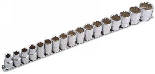 Laser Tools 12 Point Short Sockets Set Bi-Hex 1//2 Drive 17pc 10mm /> 30mm Rail